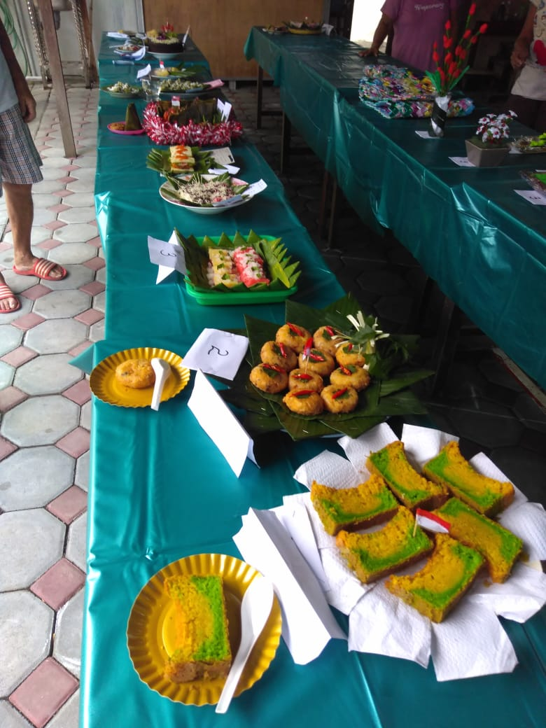 Lomba membuat makanan dari ketela HUT Kemerdekaan RI ke 75 di RW 12