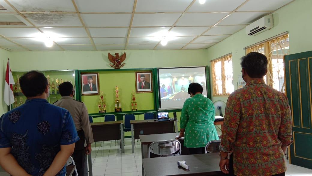 Upacara Hari Ibu secara virtual di Kelurahan Ngampilan